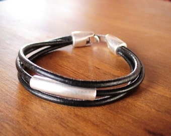 Silver bracelets, leather Bracelets, mens bracelet, Men jewelry, cool bracelets, male bracelets, bracelets for Men, unique gifts for men