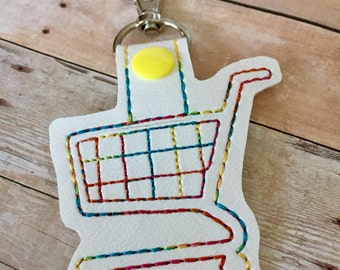 Quarter Holder / Grocery Cart / Shopping Cart Snap Tab