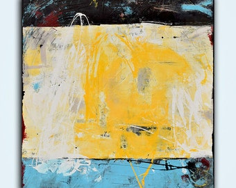 40x40 Large Texture Canvas Abstract Painting by Erin Ashley
