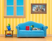 Mallard duck art print for kids rooms, dens, and living rooms: Just Ducky