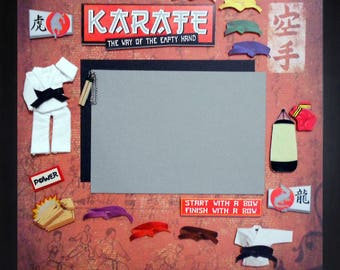 KARATE POWER Premade Memory Album Page (Gallery Wood Frame Sold Separately)