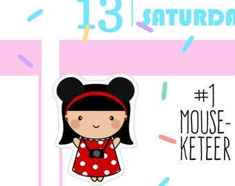 Number One Mouseketeer - Busy Bea Vacation Planner Stickers