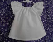 Peasant top girls cap flutter sleeves solid colors many to choice from  infant thru size 8
