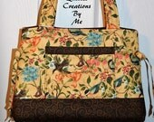READY To SHIP  Quilted Handbag Purse Tote Bag Bow  Style by QuiltedCreatonsByMe