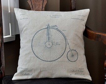 Typerwriter Patent Drawing Pillow Cover - 16x16