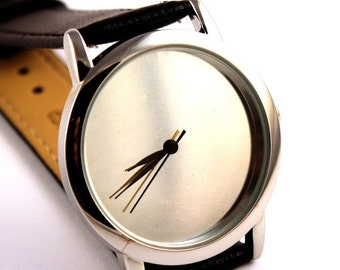 ON SALE 30% OFF Watch with metal face, silver color face watch, quartz watch, mens watch