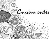 Custom Order - letters in 3 inches
