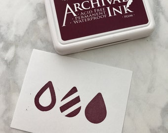 Plum Ranger Archival Ink, Purple Ranger Ink, 2.5 inch x 3.5 inch, Wooden Stamp Ink Pad, Waterproof ink, Acid free ink, Quick Drying Stamp In