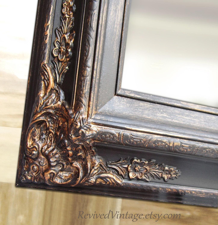 BLACK BATHROOM MIRROR For Sale Rustic Framed Decorative Ornate