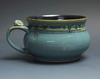 Handmade pottery soup mug ceramic chili mug cereal ice cream bowl 20 oz 3731