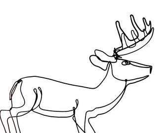 Running Buck Wire Sculpture, Deer Wire Sculpture, Deer Folk Art, 514598677