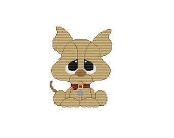 Plastic Canvas My Pal Chi-Chi Wall Hanging PDF FORMAT Instant Download