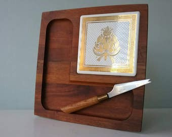 Cutting board cheese - Mid Century Vintage Mid Century Cheese Server Georges Briard Woodland