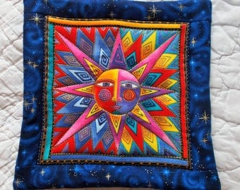 Sun Hot Pad/ Designer Material by Laurel Burch/potholder