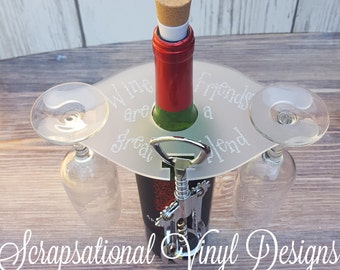 Frosted Acrylic Wine Caddy, Wine Buttler