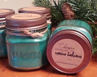 Maine Balsam Soy Candle -  8 oz. Mason Jar