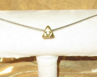 Custom Hand Sculpted on Sterling Silver 3mm Legend of Zelda Triforce Charm by TorresDesigns Ready To Ship