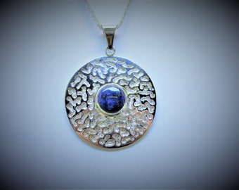 Lapis Sterling Silver Pendant