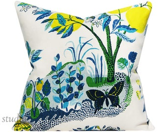 Schumacher Pillow Cover - Citrus Garden in Pool by Josef Frank - 20 inch - chinoiserie - ready to ship