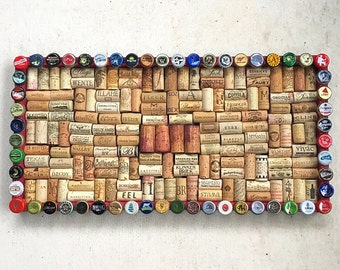 Beer Cap and Wine Cork Board - for the Beer Lover and Wine Geek in your life!