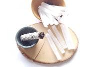 Raw selenite wand// raw selenite log//Large selenite wand