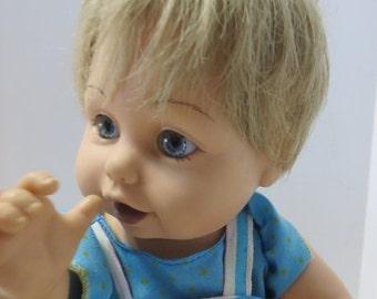 ON SALE Vintage Baby So Beautiful-Reborn doll-Blonde-Blue Eyes