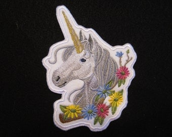 Embroidered Ucorn Iron On Patch, Iron On Patch, Unicorn Iron Patch, Unicorn Patch, Horse Patch