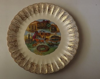 New Orleans Louisiana Souvenir Plate