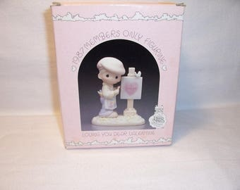 1986 Loving You Dear Valentine Precious Moments Figurine #PM 873 With Box and Papers