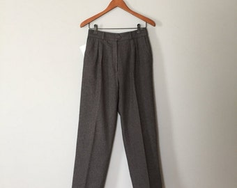 30% OFF WINTER SALE... asphalt grey wool trousers | wool cigarette pants | 90s gray trousers