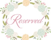 Reserved Listing for Caitlin S