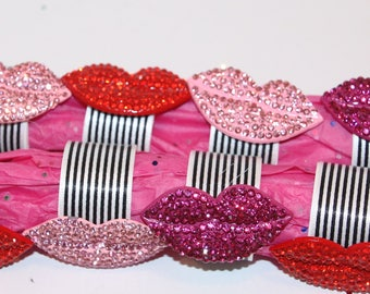 Lip Bling Napkin Rings Set of 8