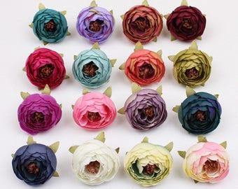 Faux flower, Artificial Flower, Ranunculus artificial flower, Silk Flower Decor, Artificial Flower Supplies Floral Supplies Wedding Flower