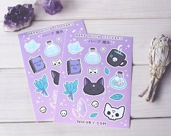 Herb Witch Sticker Sheet - Kiss Cut