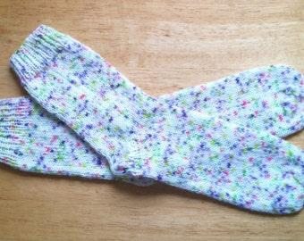 "Hand Knit Soft And Warm Women's  Superwash Merino Wool Socks Size 8 - 8.5  (9.5"" length), Knitted Merino Wool Socks, Boot Socks, Leg Warmers"
