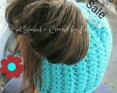 SALE Messy Bun Ponytail beanie/hat