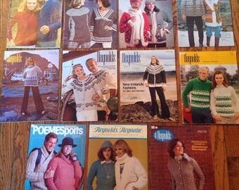 Vintage 1970's Reynolds Knitting Magazine Lot Instructions Patterns