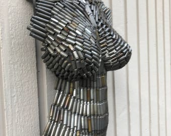Bullet Metal Wall Art Torso by Holly Lentz
