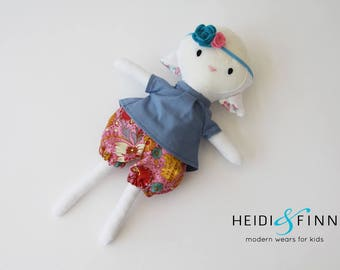 NEW Mini Pals lamb sheep easter soft rag doll plush keepsake gift ivory OOAK ready to ship