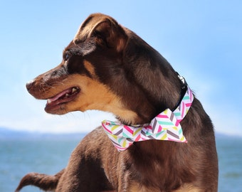 New! Mint or Colorful dog collar, dog bowtie, dog leash, cat collar, cat bow tie, UsagiTeam handmade pet collar made in USA