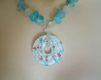 Blue Agate Necklace, boho jewelry gypsy jewelry hipster jewelry bohemian jewelry hippie new age metaphysical boho necklace bohemian necklace