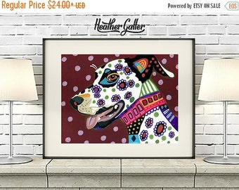 50% Off Today- Dalmatian art dog Poster Print of painting by Heather Galler (HG350)