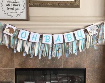 Woodland Baby Shower Banner - Woodland Banner - Woodland Custom Party - Woodland Party - Happy Birthday Banner - Hedgehog Banner