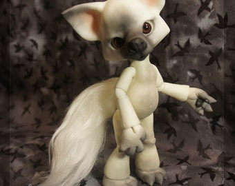 Howl the Wolf - Winter Wolf - white resin - ball joint doll / BJD
