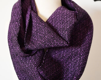 MADE TO ORDER - Handwoven Cotton Loop Scarf - Overground Design