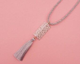 "SALE Tassel necklace // Geometric Statement Necklace // Memphis Modern // Geometric Jewelry // The ""Ettore"""