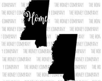 Mississippi SVG PNG DXF  State Home Instant Download Silhouette Cricut Cut Files Cutting Machine String Art Template Vector File