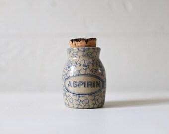 Little crock corked stoneware bottle
