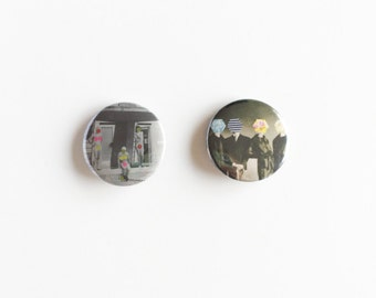 Set of Two 25mm Button Badges - Modesty