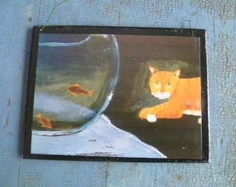 Cat and Fish Bowl